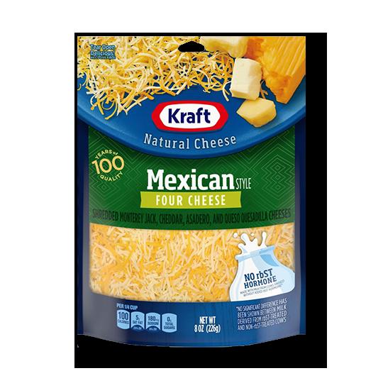 크래프트 슈레드 멕시칸 스타일 체다잭 치즈