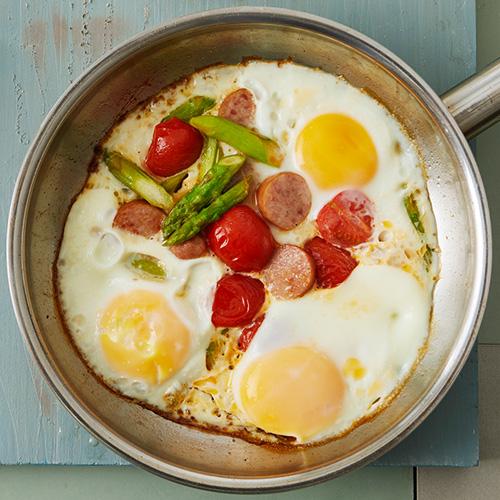 브랙퍼스트 소시지달걀