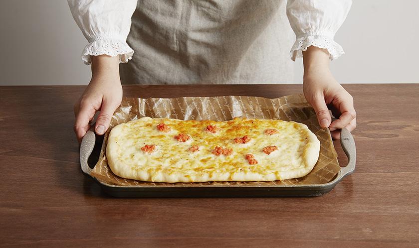 180℃로 예열한 오븐에서 15분간 굽는다.